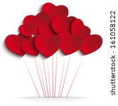 vector   valentines day heart...   Shutterstock .eps vector #161058122