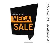 set of trendy banner with flat... | Shutterstock .eps vector #1610592772