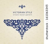 vector baroque ornament in... | Shutterstock .eps vector #161063345