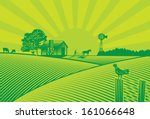 organic farming silhouette in... | Shutterstock .eps vector #161066648