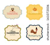 vector set  vintage happy... | Shutterstock .eps vector #161072036