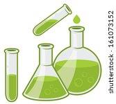 chemistry flacks | Shutterstock .eps vector #161073152