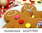 Close Up Of Gingerbread Men In...