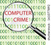 computer crime concept vector | Shutterstock .eps vector #161077892
