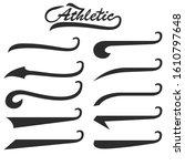 set of hand lettering...   Shutterstock . vector #1610797648
