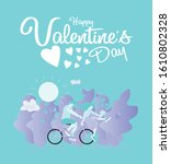 valentines day background with... | Shutterstock .eps vector #1610802328