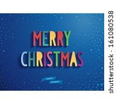 sweet merry christmas card with ... | Shutterstock .eps vector #161080538