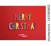 merry christmas candy lettering ... | Shutterstock .eps vector #161080802