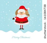 santa claus with a bag of the... | Shutterstock . vector #161084738