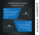 email   web banner template for ... | Shutterstock .eps vector #1610860678