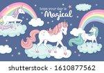 vector illustration of magical... | Shutterstock .eps vector #1610877562