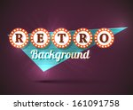 retro old style road sign.... | Shutterstock .eps vector #161091758