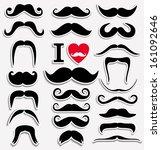 moustaches set. design elements. | Shutterstock .eps vector #161092646