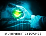 close up image of human hand... | Shutterstock . vector #161093438
