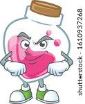 pink potion mascot cartoon... | Shutterstock .eps vector #1610937268