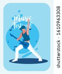 musician man with electric... | Shutterstock .eps vector #1610963308