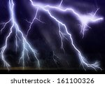 lightning galore   striking... | Shutterstock . vector #161100326