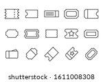 stroke line icons set of ticket.... | Shutterstock .eps vector #1611008308