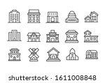set of building related vector... | Shutterstock .eps vector #1611008848
