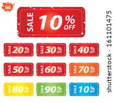 vector  sale price tag 10   90... | Shutterstock .eps vector #161101475