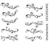 decorative monograms and... | Shutterstock . vector #1611031402
