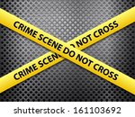 Yellow Crime Scene Tape On A...