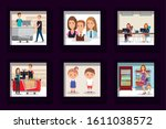 bundle of designs of business... | Shutterstock .eps vector #1611038572
