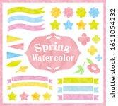 beautiful watercolor style... | Shutterstock .eps vector #1611054232