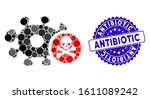 collage microbe antibiotic icon ... | Shutterstock .eps vector #1611089242