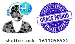 mosaic operator time icon and...   Shutterstock .eps vector #1611098935
