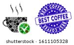 mosaic best coffee icon and... | Shutterstock .eps vector #1611105328