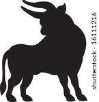 bull  vector | Shutterstock .eps vector #16111216