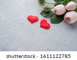 Red Heart And Bush Roses ...
