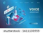 illustration of voice assistant ...
