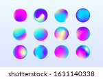 set of vivid fluid gradients....