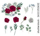 set of floral branch for...   Shutterstock .eps vector #1611152632
