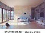 beautiful modern living room... | Shutterstock . vector #161121488