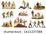 mountain climbing trekking...   Shutterstock .eps vector #1611237388