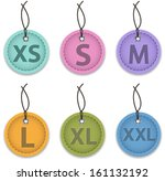 size clothing labels made of... | Shutterstock .eps vector #161132192