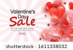 valentines day discount banner...   Shutterstock .eps vector #1611338032