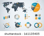 infographic business template... | Shutterstock .eps vector #161135405