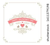 template card for birthday and... | Shutterstock .eps vector #1611379198