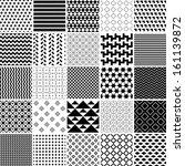 monochrome patterns set.... | Shutterstock .eps vector #161139872