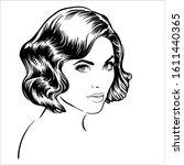 beautiful brunette girl...   Shutterstock .eps vector #1611440365