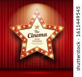 cinema theater sign star shape... | Shutterstock .eps vector #1611449545