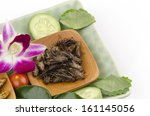 Small photo of Fry Acheta domesticus insect menu.