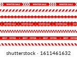 winter sale ribbons  abstract... | Shutterstock .eps vector #1611461632