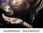taking antidepressants  number... | Shutterstock . vector #1611463222
