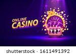 casino online golden colorful... | Shutterstock .eps vector #1611491392
