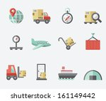 logistics icons | Shutterstock .eps vector #161149442